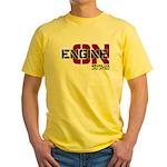 Engine On Jiu Jitsu Yellow T-Shirt