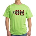 Engine On Jiu Jitsu Green T-Shirt