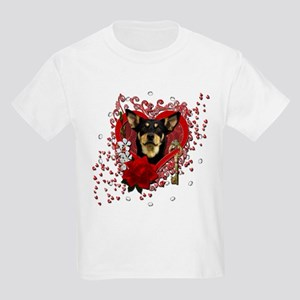 Valentines - Key to My Heart Kids Light T-Shirt