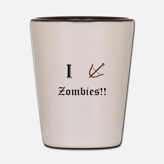 I destory Zombies Shot Glass