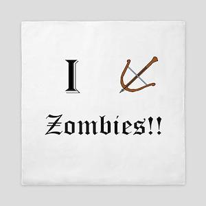 I destory Zombies Queen Duvet