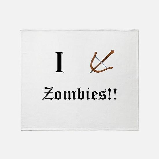 I destory Zombies Throw Blanket