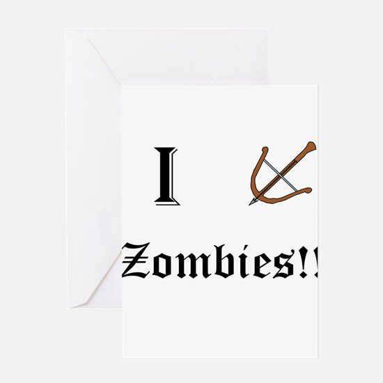 I destory Zombies Greeting Cards