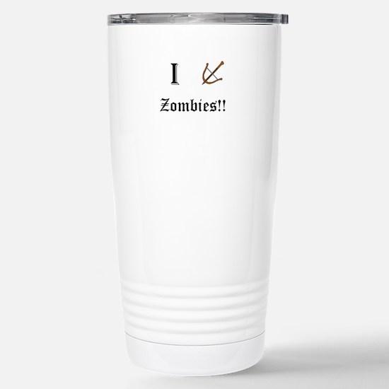 I destory Zombies Travel Mug