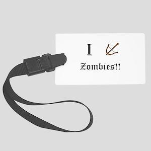 I destory Zombies Large Luggage Tag