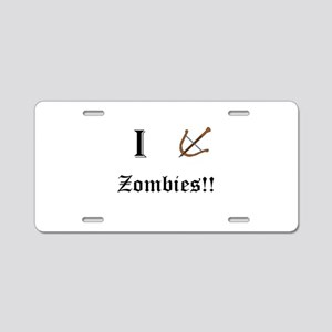 I destory Zombies Aluminum License Plate