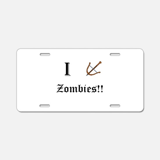 I destory Zombies Aluminum License Plate