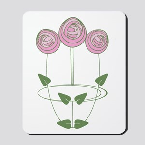 Art Nouveau Mackintosh Roses in Pink Mousepad
