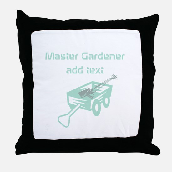 Cool Mint Master Gardener Throw Pillow