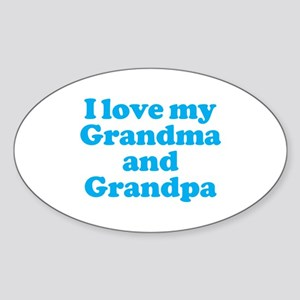 I Love My Grandparents Oval Sticker