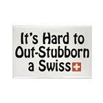 Stubborn Swiss Rectangle Magnet (100 pack)