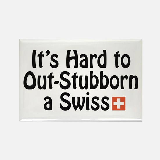 Stubborn Swiss Rectangle Magnet