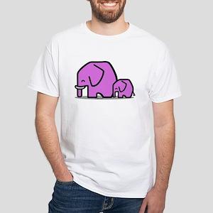 Elephants White T-Shirt