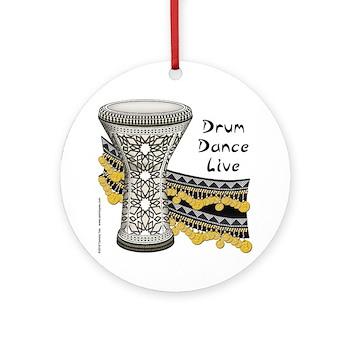 Drum, Dance, Live Ornament (Round)