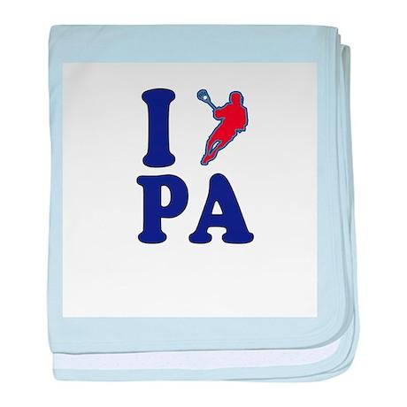 Pennsylvania Lacrosse baby blanket