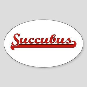 Succubus Oval Sticker