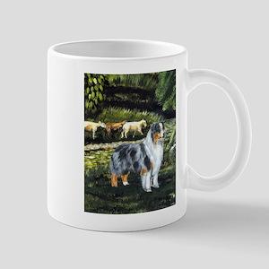 Aussie Blue Merle w/ Sheep Mug
