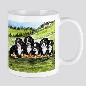 Bernese Moutain Dog Puppies Mug