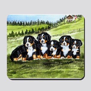 Bernese Moutain Dog Puppies Mousepad