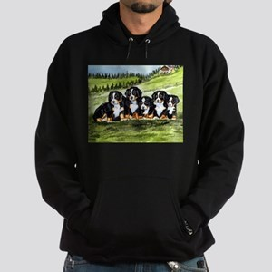 Bernese Moutain Dog Puppies Hoodie (dark)