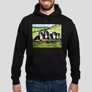 Bernese Moutain Dog Puppies Hoodie (dark)