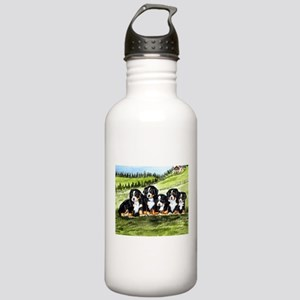 Bernese Moutain Dog Puppies Stainless Water Bottle