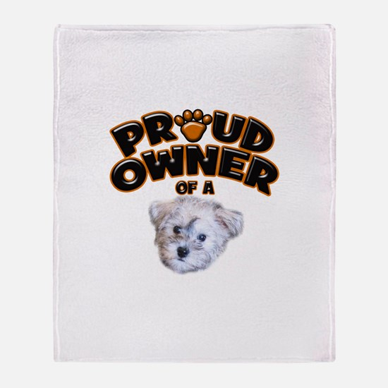 Proud Owner of a Schnoodle Throw Blanket