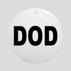 DOD Department of Defense Ornament (Round)