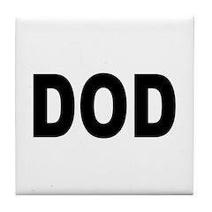 DOD Department of Defense Tile Coaster