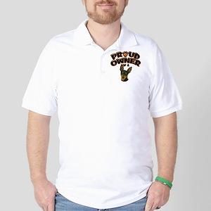 Proud Owner of a Min Pin Golf Shirt