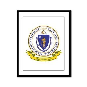 Massachusetts Seal Framed Panel Print