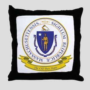Massachusetts Seal Throw Pillow