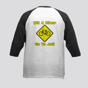 Kill A Biker, Go To Jail Kids Baseball Jersey