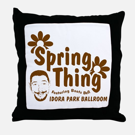 Boots Bell Spring Thing Throw Pillow