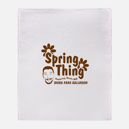 Boots Bell Spring Thing Throw Blanket