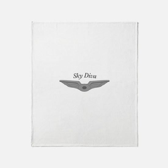 Cute Flight attendant Throw Blanket