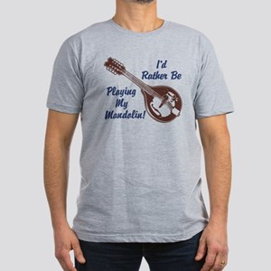 Rather Be Playing My Mandolin Men's Fitted T-Shirt