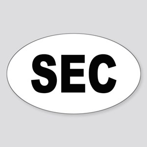 SEC Securities and Exchange Commission Sticker (Ov