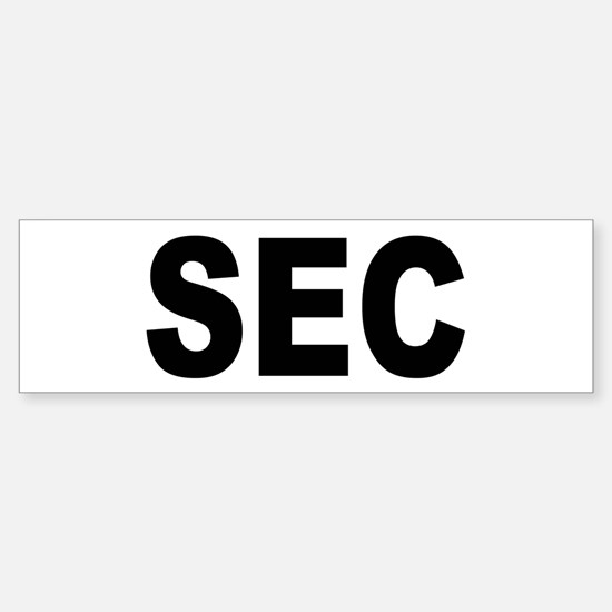 SEC Securities and Exchange Commission Bumper Bumper Sticker
