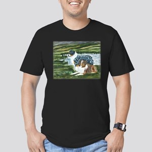 Austrailian Shepherd Blue and Men's Fitted T-Shirt
