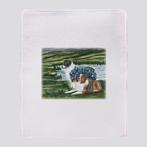 Austrailian Shepherd Blue and Throw Blanket