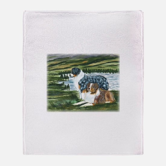 Austrailian Shepherd Blue and Throw Blanket