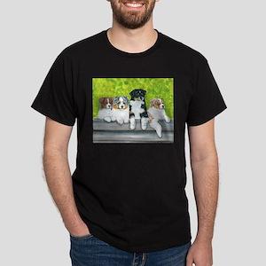 Austrailian Shepherd Puppy Li Dark T-Shirt