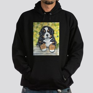 Bernese Mountain Dog Fence Pu Hoodie (dark)