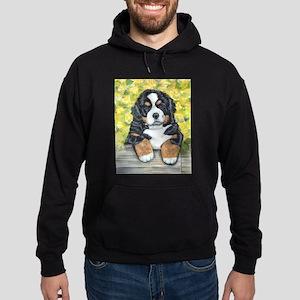 Bernese Mountain Dog Fence Pu Hoodie (dark)