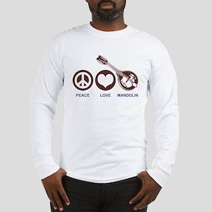 Peace Love Mandolin Long Sleeve T-Shirt