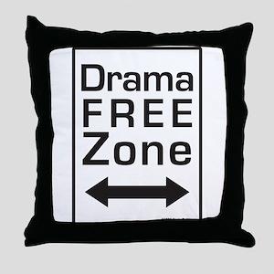 Drama Free Zone Throw Pillow