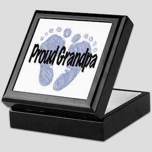 Proud Grandpa (Boy) Keepsake Box