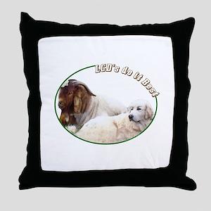 LGD's do it Best Throw Pillow