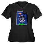 ILY Utah Women's Plus Size V-Neck Dark T-Shirt